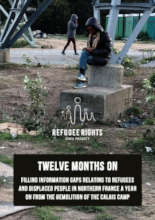Calais report cover, a year on