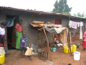 Adeno's Home Where She Grew Up in the Slums