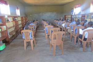 Students Using the New Agwata Library