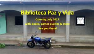 New building for Paz y Vida's community library
