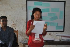 Rita receiving leadership lesson