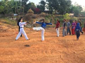 Rita while teaching Taekwondo