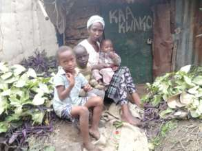 One of our families in the slum of Dandora