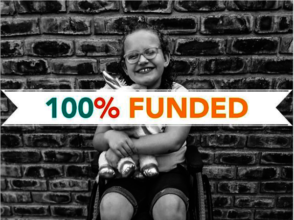 Lanne's wheelchair is 100% Funded