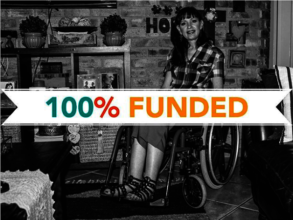 Jolette's wheelcahir is 100% Funded