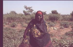 A farmer from Iguguno in her Forest Garden