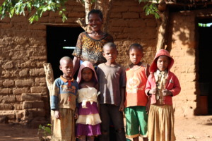 Neema with her family