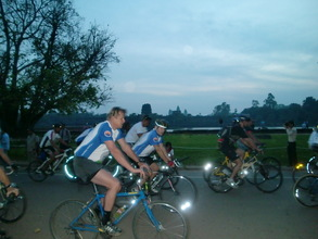 Daylight breaking as the race starts