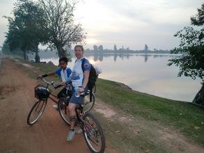 HOPE Trustee Tanya with Samnang at sunrise