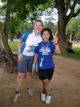 Pok with HOPE trustee at the Angkor Bike Ride