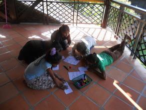 Preparing material for their presentation