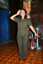Pok in uniform for nurse training