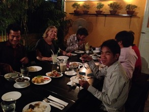 Dinner with six YAs living independently