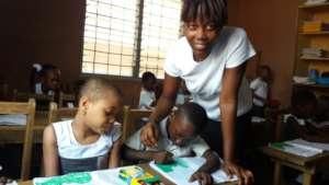 Ms. Joyceline teaching PEI Kids