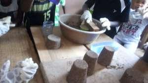 Sculptures through sand casting