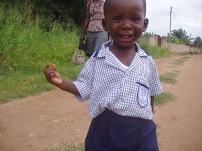 Christpher on his way to school