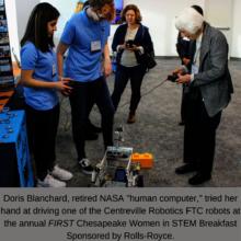 Women in STEM Breakfast Sponsored by Rolls-Royce.