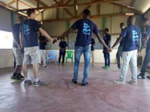 IsraAID team in Kakuma, during team building