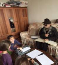 Shaip teaching students at their homes