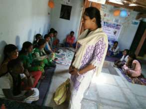 Rescued child labor girls in BASS skills training