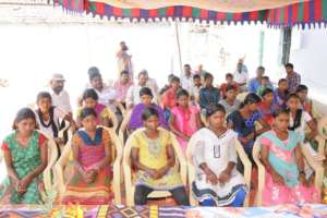 Rescued children and girls from Odisha state