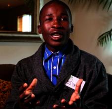 Siyabonga giving hard earned advice