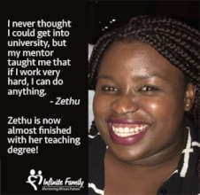 Zethu Completing her Teaching Degree