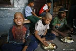 Children at the shelter