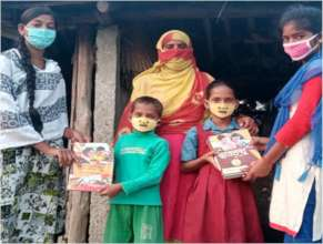 Distributing Books to Yaas impacted families