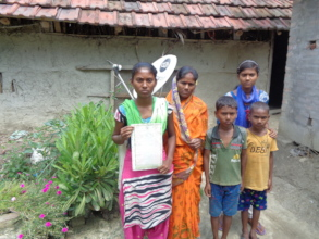 Mrinmoyee with her family