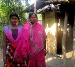 Shubhoshree with her Mother at their house