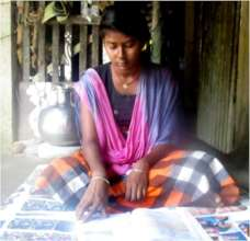 Shubhoshree at Studies in her Home