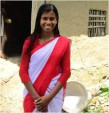 Sujata in her bright smile of aspirations