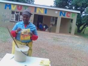 One of the cooks preparing ePaP