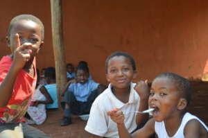 Kids having their breakfast