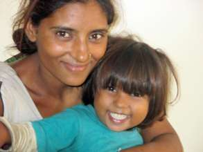 A resued child with her traced mother