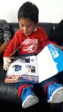 A funny boy! :)