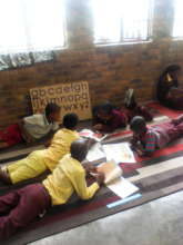 Beneficiaries during their reading break