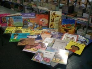 An example of the books we'll be donating