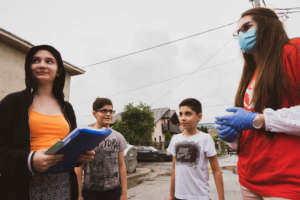 Meeting children in the streets