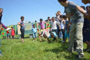 Games at a Mobile School activity