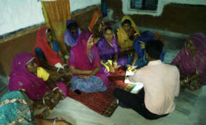 Women's SHGs monthly Meeting