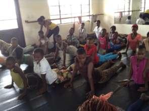 First Day of Dance Class for Street Girls