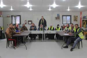 Azraq residents attending mental health training