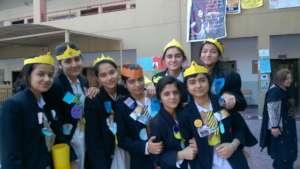 Anushka with class mates