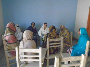 Awareness session conducting with girls' mothers