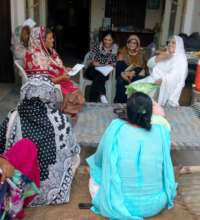 Meeting with mothers on awareness girls education