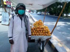 Distributed Cart and give cash for fruit to daily