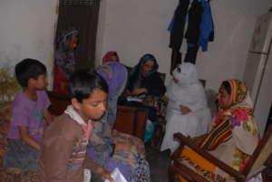 Muwakhat team registering dropout girls