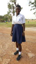 Khadija in her school uniform.